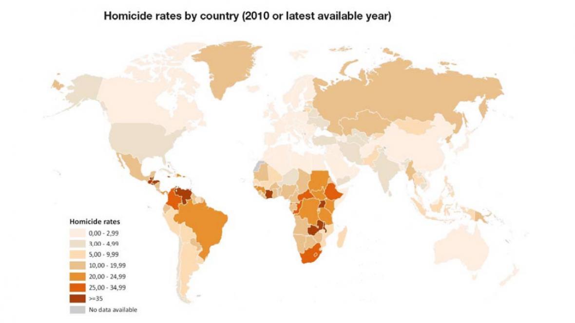 Počty vražd ve světě