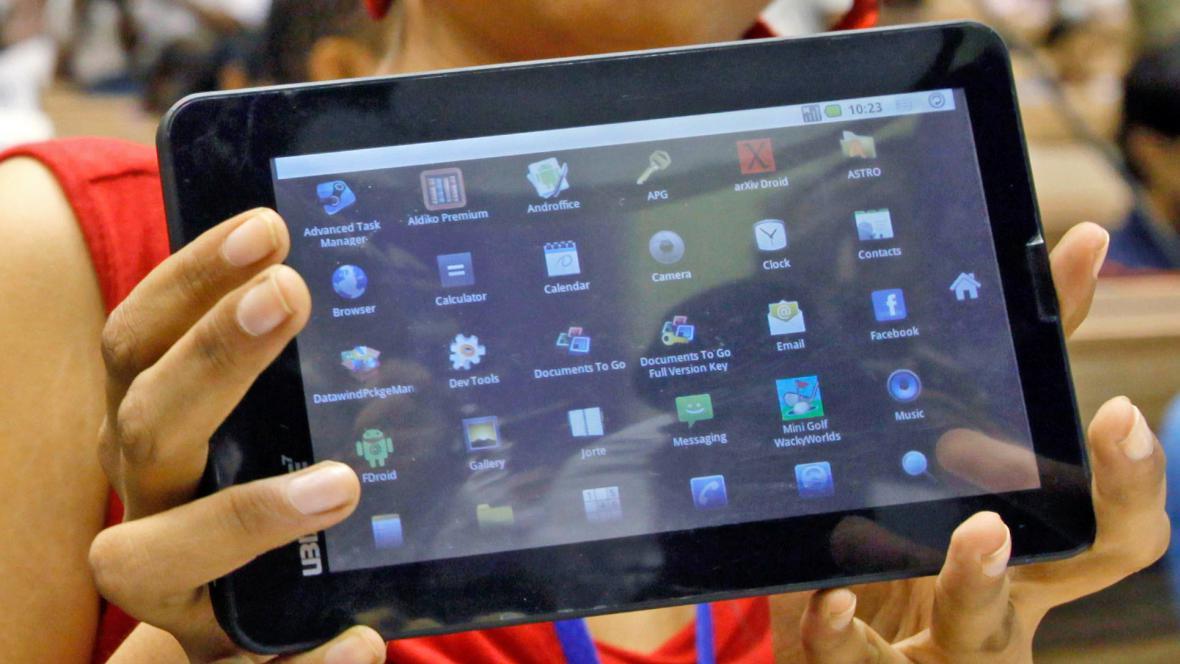 Indický tablet Aakash