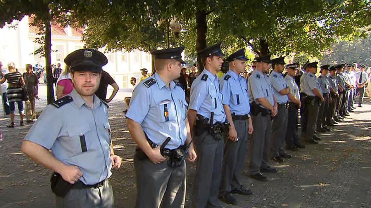 Kordon policistů