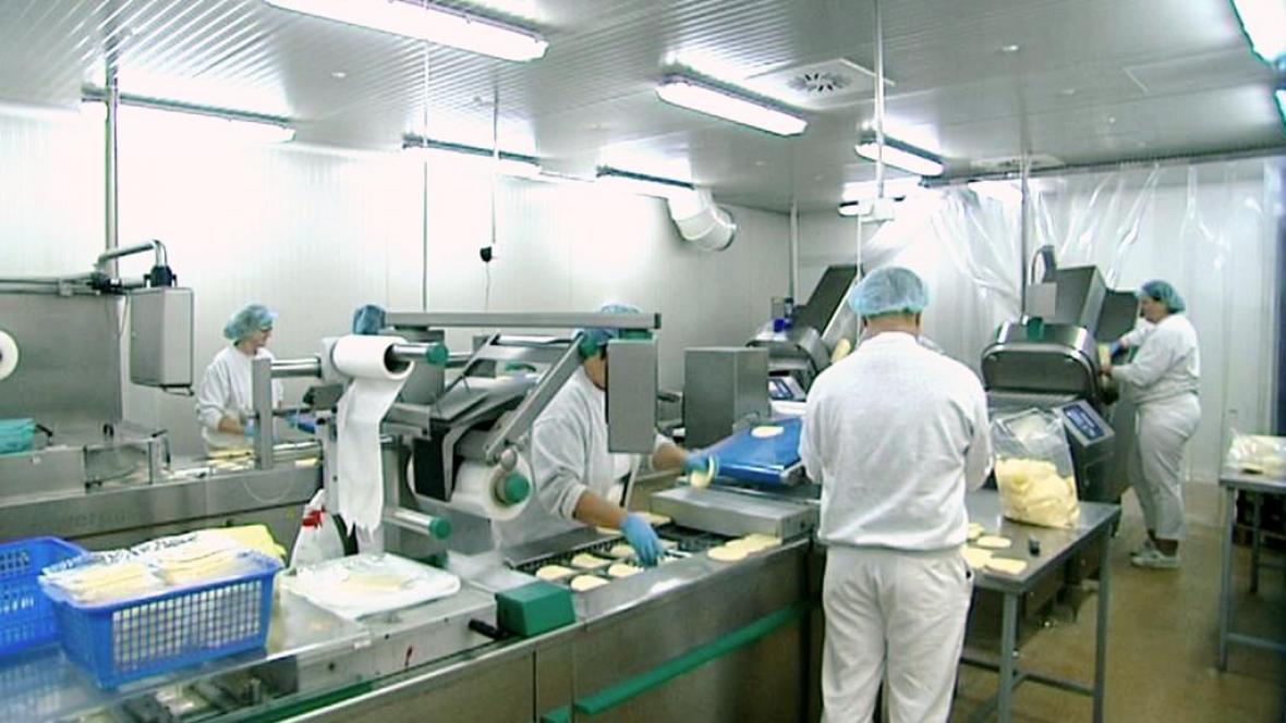 Zaměstnanci mlékárny