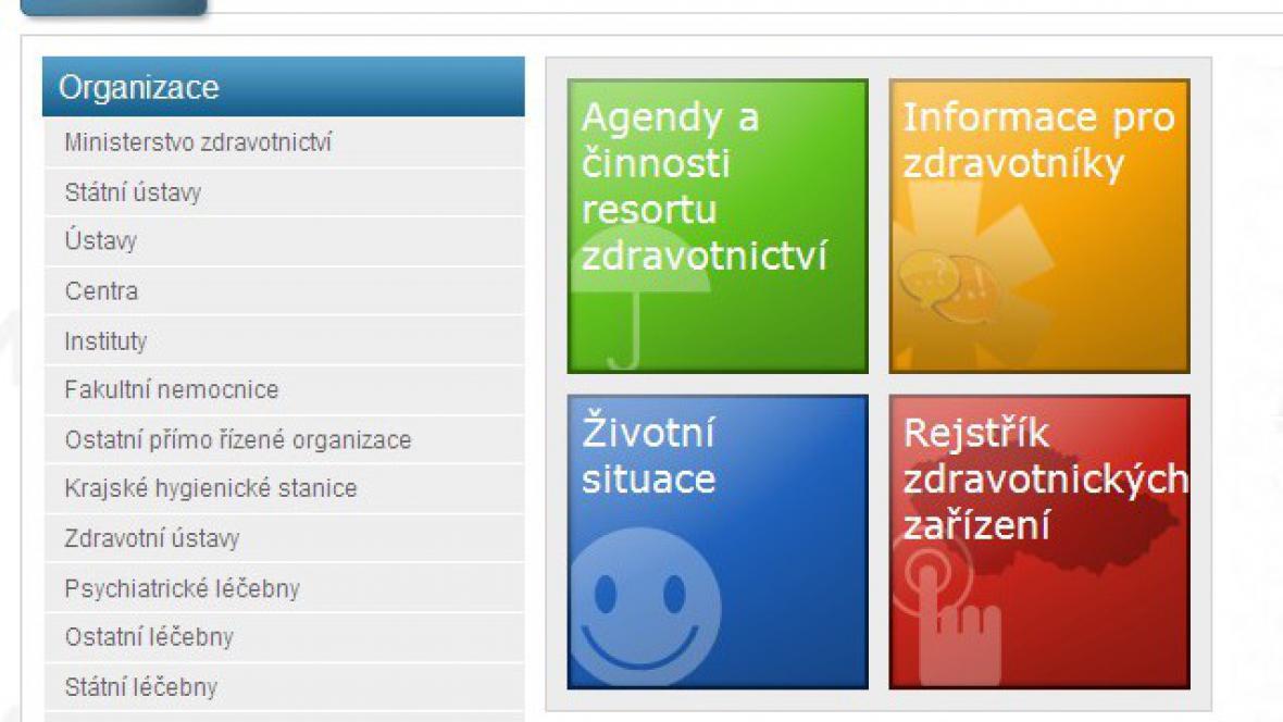 Portál ministerstva zdravotnictví
