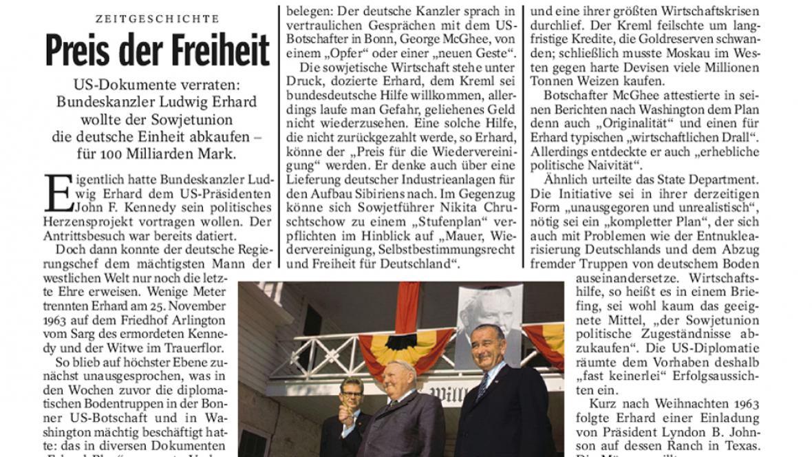 Der Spiegel 40/2011 o Ludwigu Erhardovi