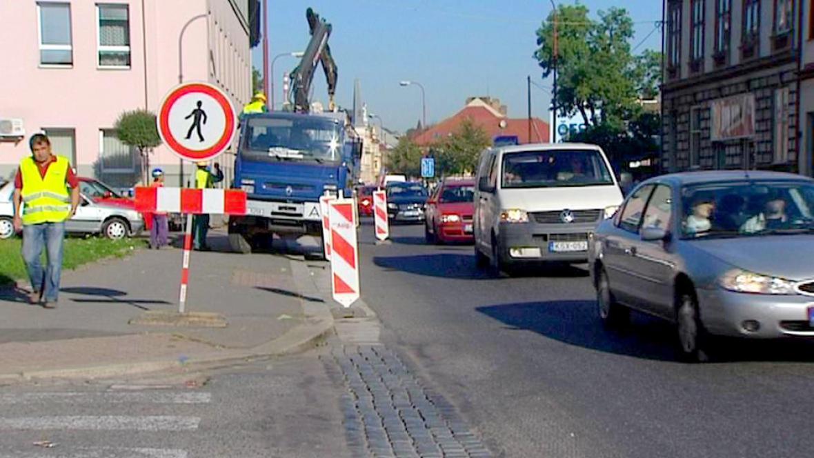 Dopravní komplikace v Chrudimi