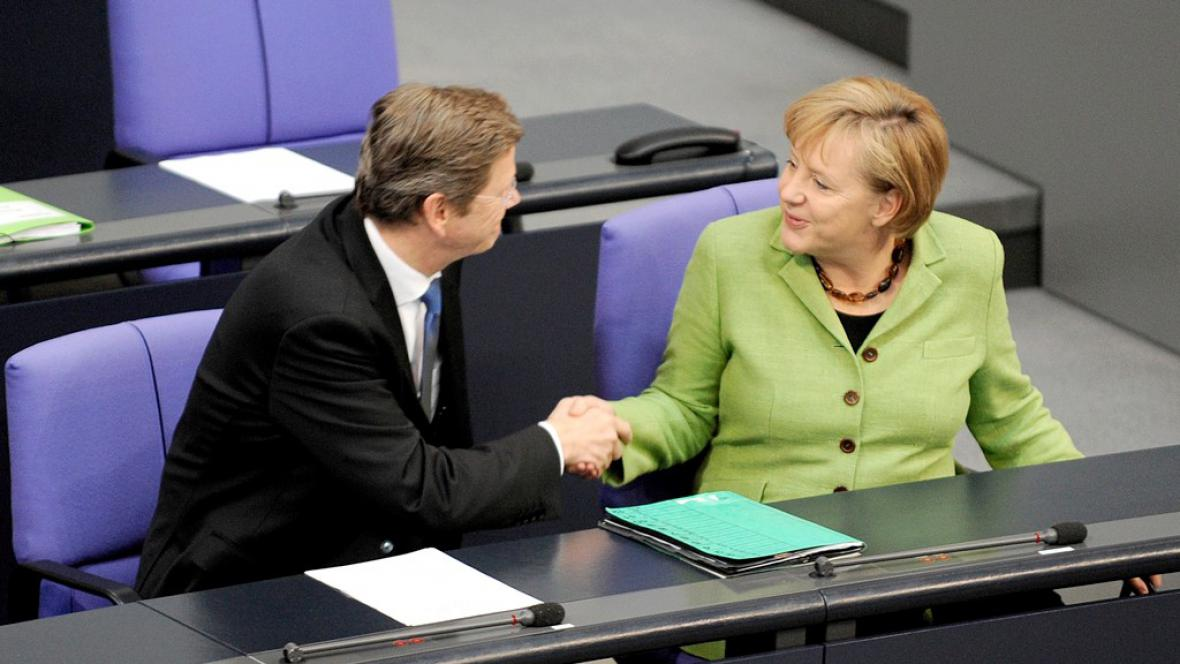 Merkelová a Westerwelle