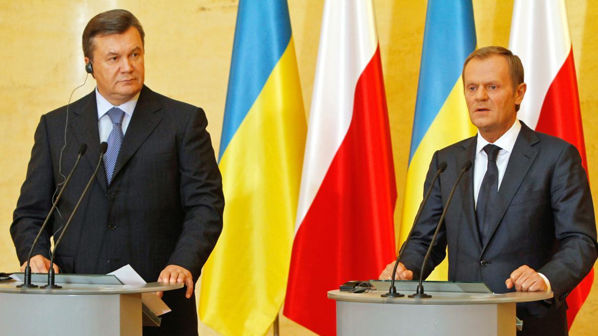 Viktor Janukovyč a Donald Tusk