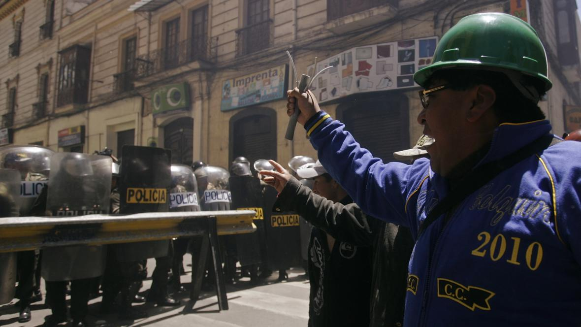 Protesty proti bolivijskému prezidentovi