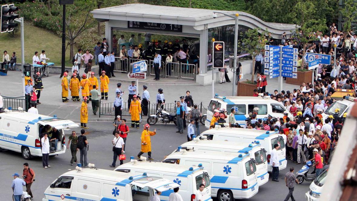 Srážka metra v Šanghaji