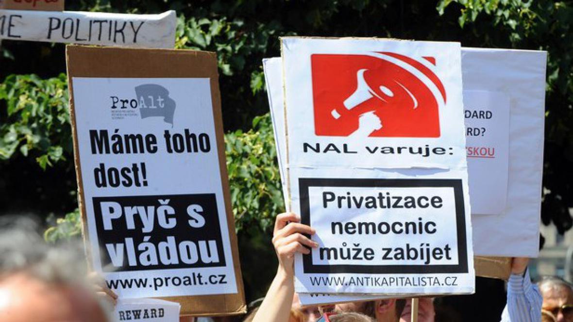 Protesty odborů proti reformám