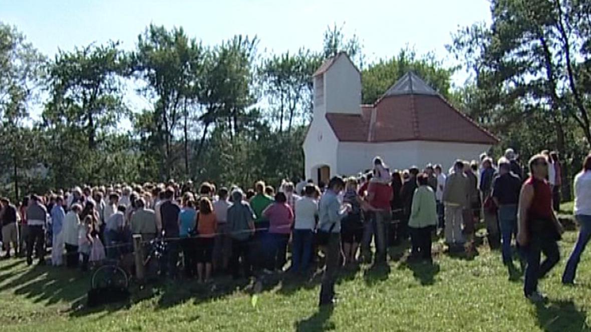Svěcení kaple v Holubově