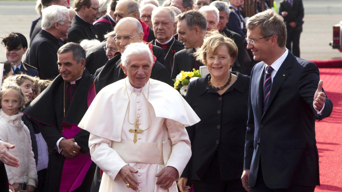 Papež Benedikt XVI., Angela Merkelová a Christian Wulff