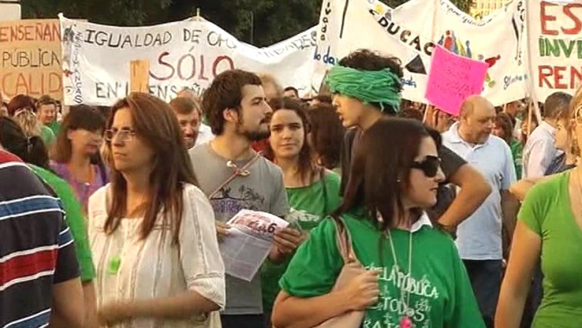 Stávka španělských učitelů