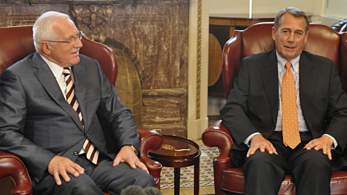Václav Klaus a John Boehner