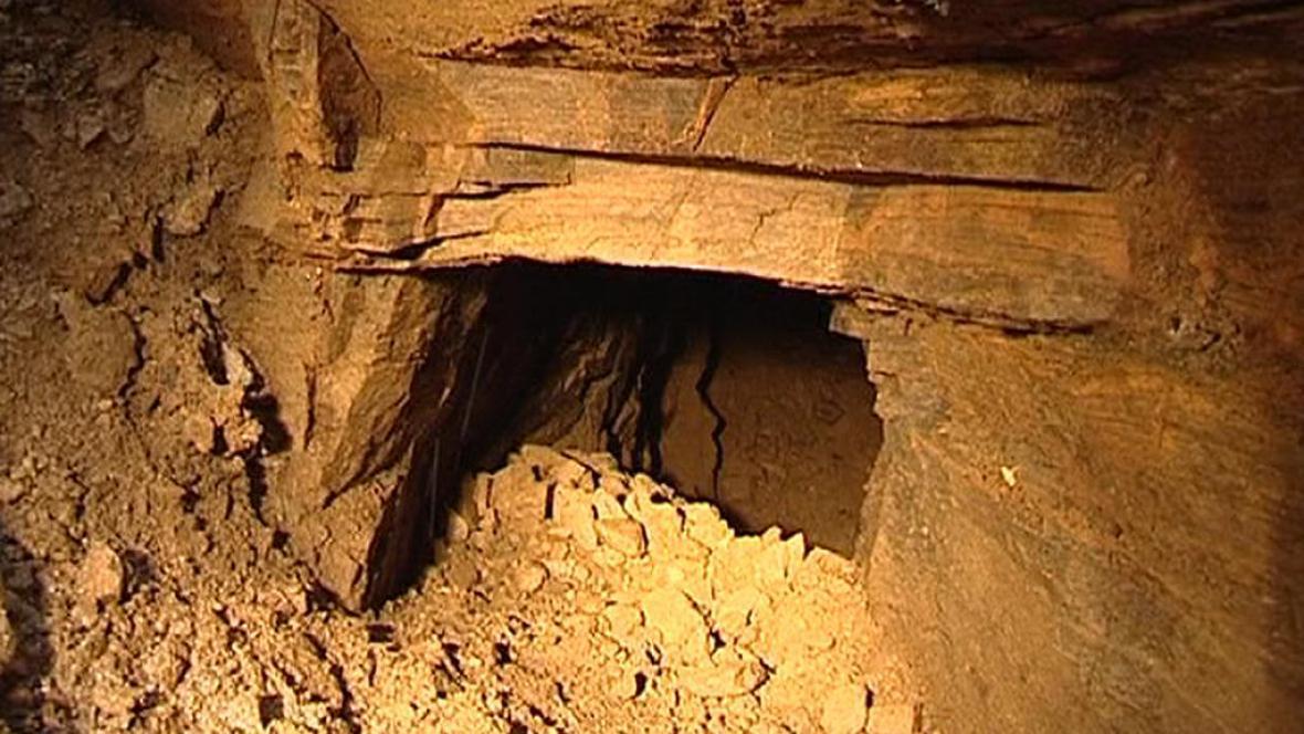 Ústí odkryté štoly v Jemnici