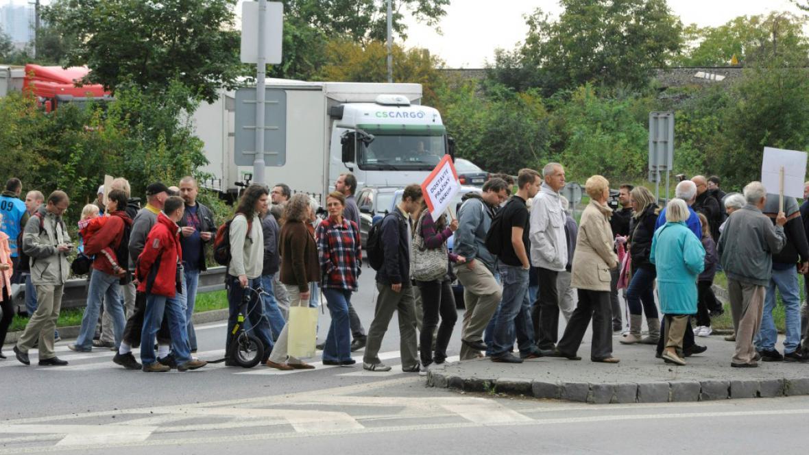 Blokáda Spořilovské ulice