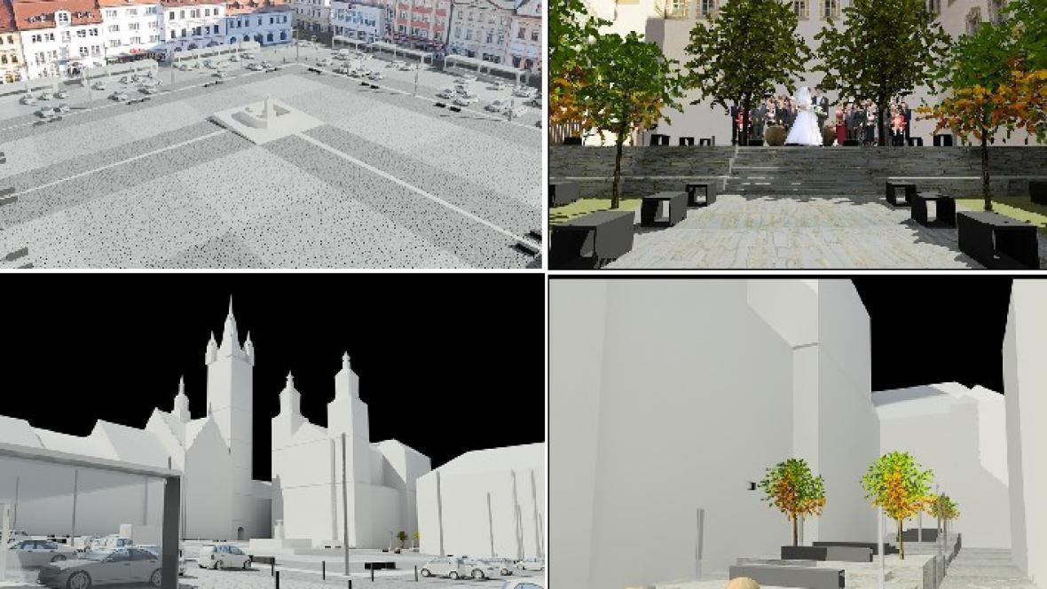 Regenerace parteru klatovského náměstí (chmelík & partneři)