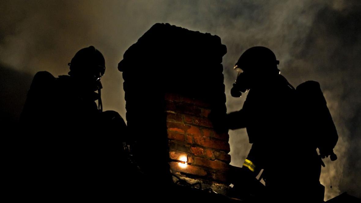 Požár pivovaru v Jindřichově Hradci
