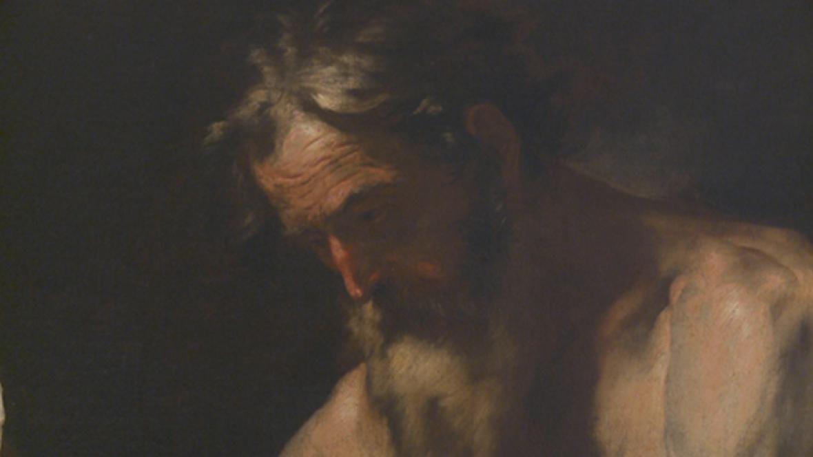 Jusepe de Ribera / Sv. Jeroným (detail)