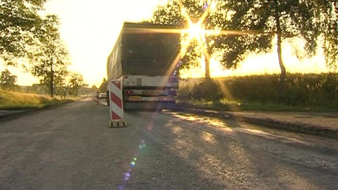 Opravovaná silnice