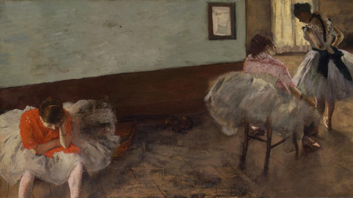Edgar Degas / Hodina tance (detail)