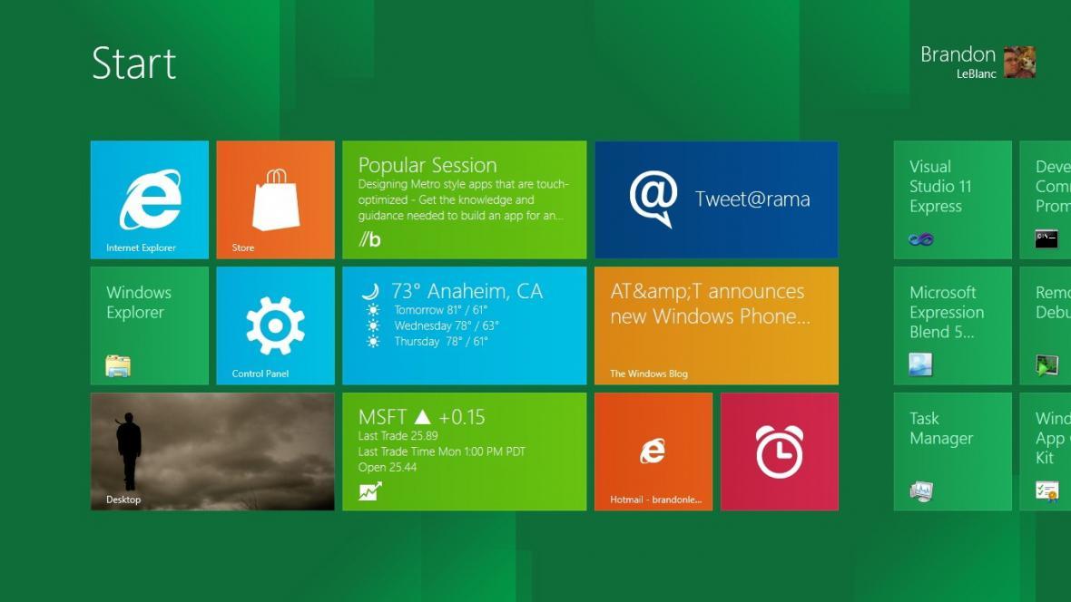Představení Windows 8