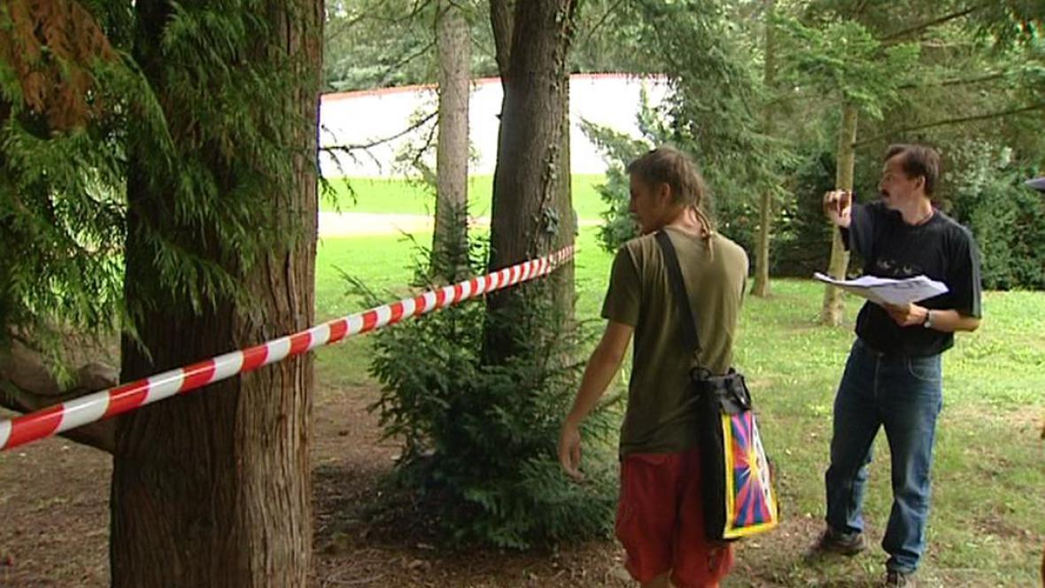 Aktivisté označují stromy určené  k poražení