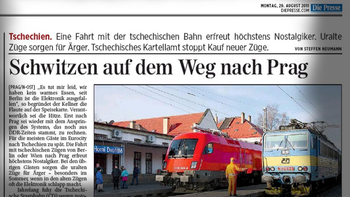 Die Presse o Českých drahách