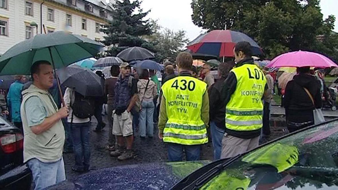 Demonstrace v Novém Boru