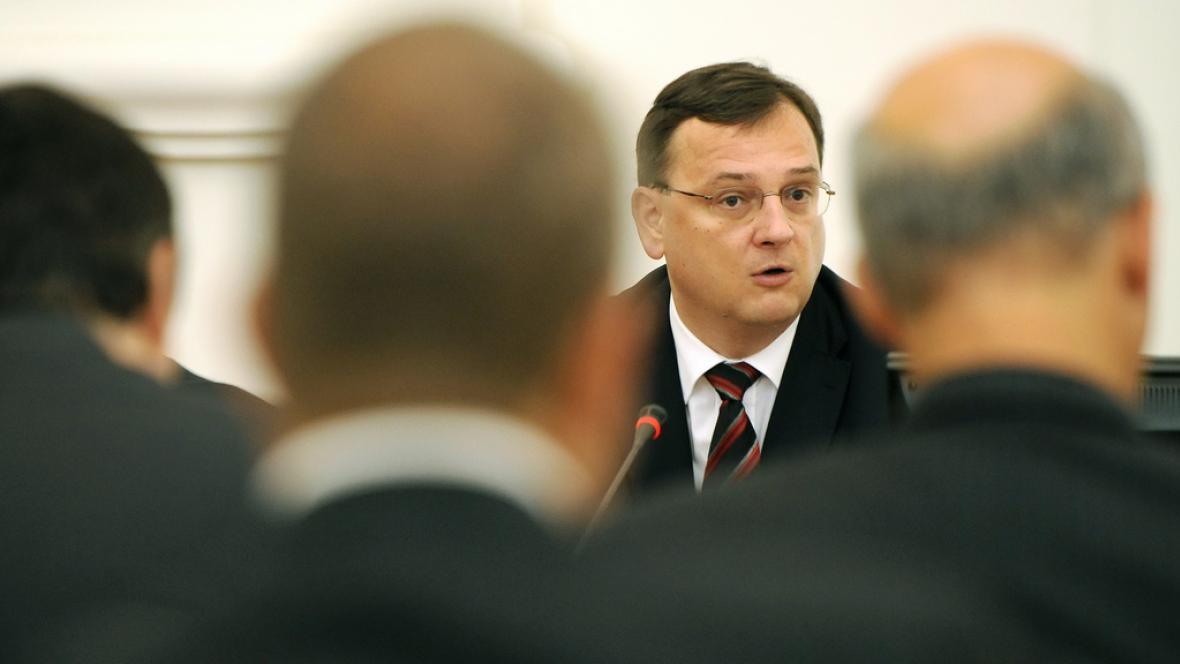 Petr Nečas na poradě s českými diplomaty