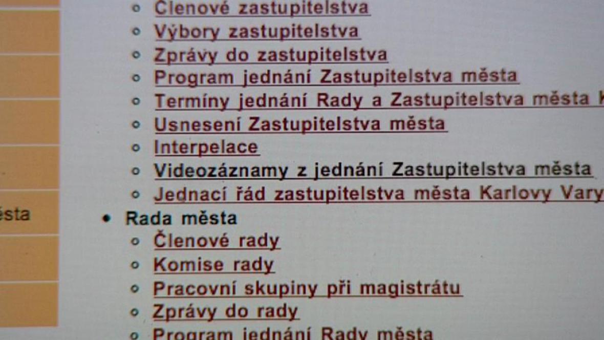 Webové stránky Karlových Varů