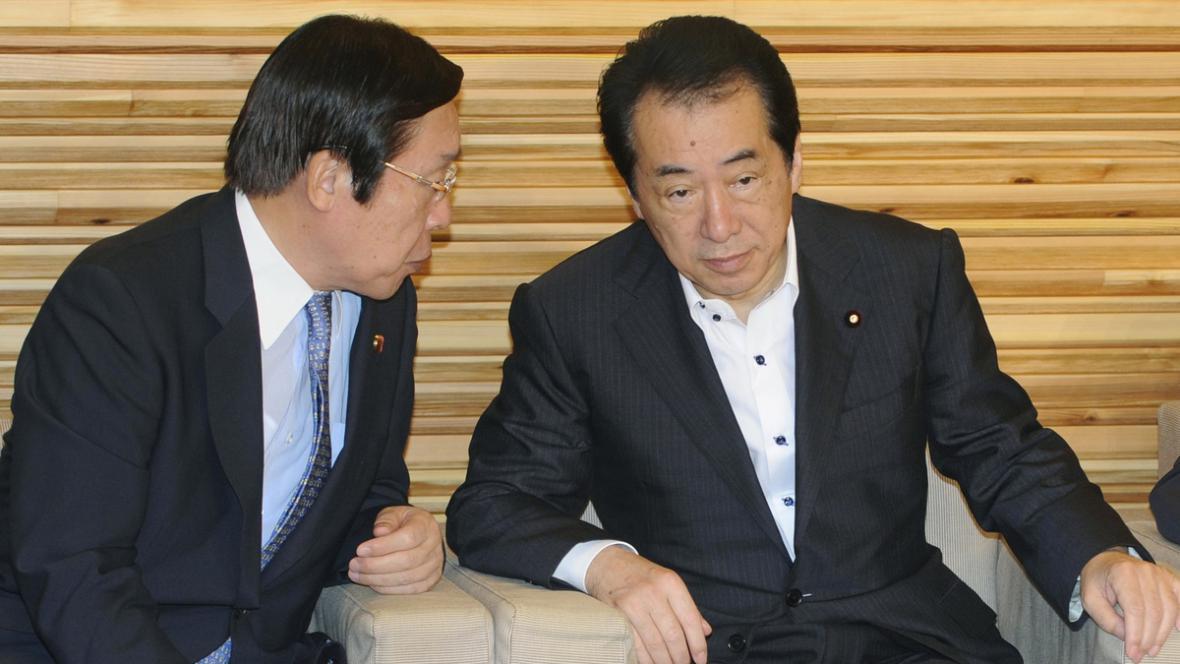 Odstupující japonský premiér Naoto Kan