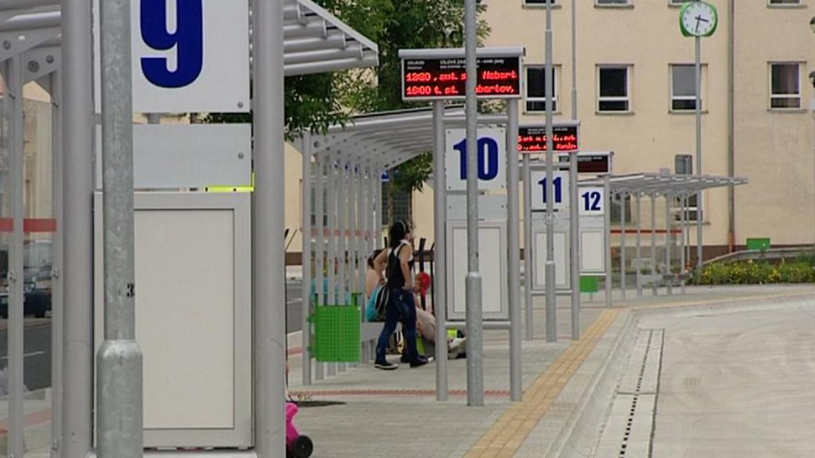 Nové nástupiště sokolovského nádraží