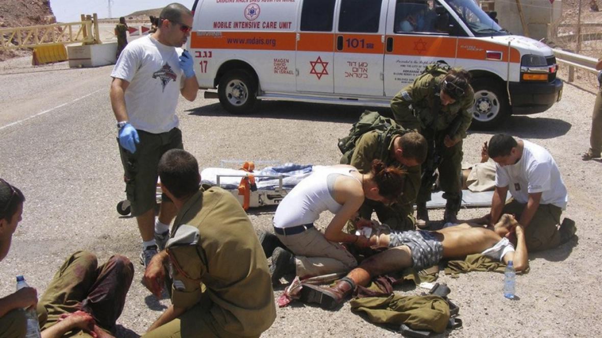 Zranění izraelští vojáci