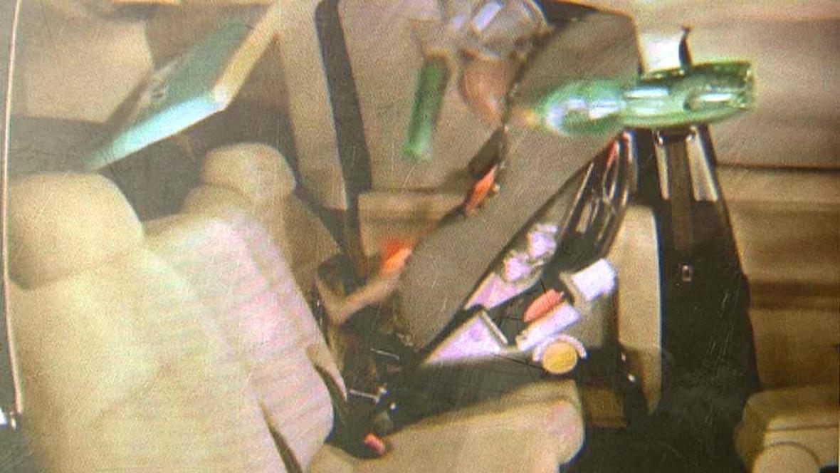 Záběry ze speciálního crash testu