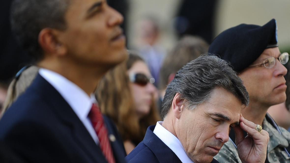 Barack Obama a Rick Perry