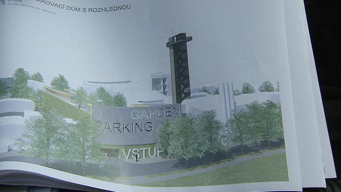 Projekt kladenského parkoviště s rozhlednou