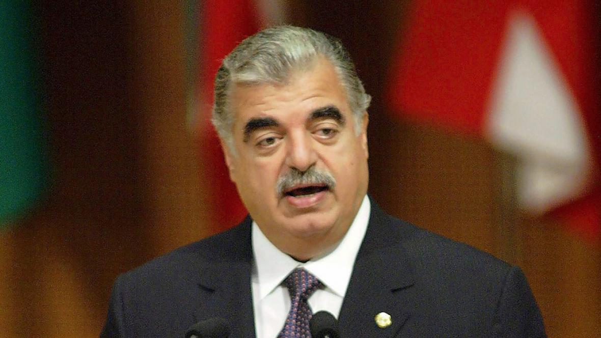Rafík Harírí - Archivní snímek z roku 2003