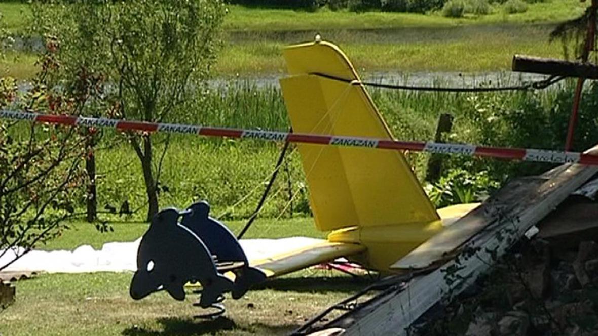 Zřícené letadlo