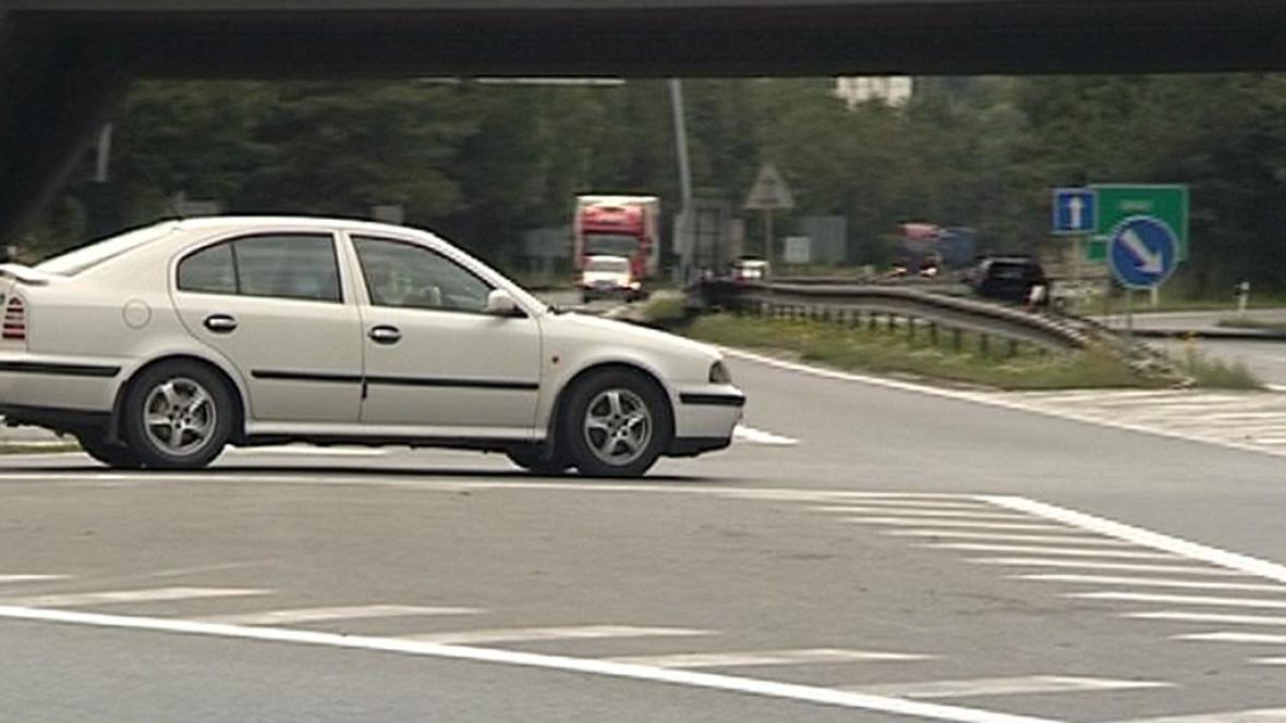 Sjezd z dálnice D1 u Jihlavy