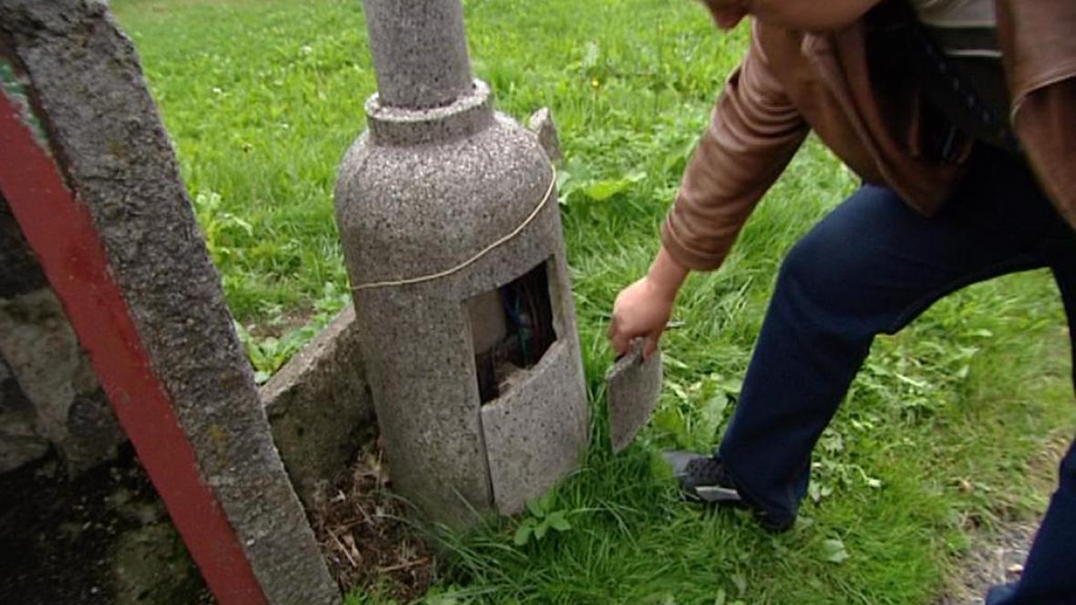 Nebezpečná lampa v Kraslicích