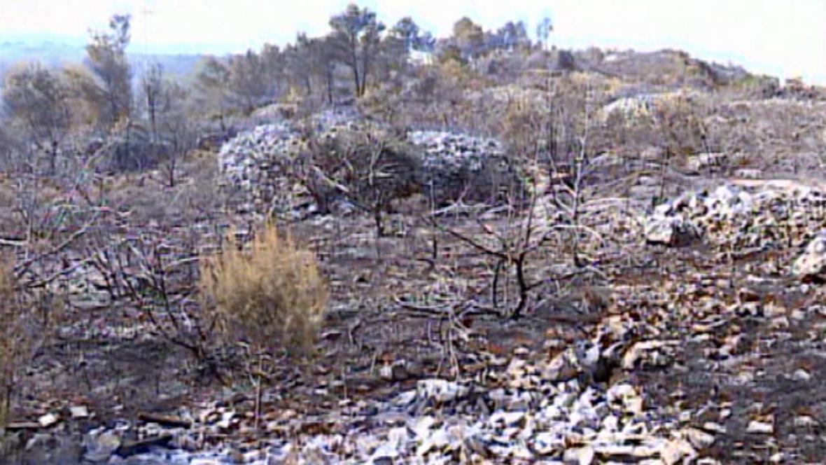 Spáleniště na ostrově Brač