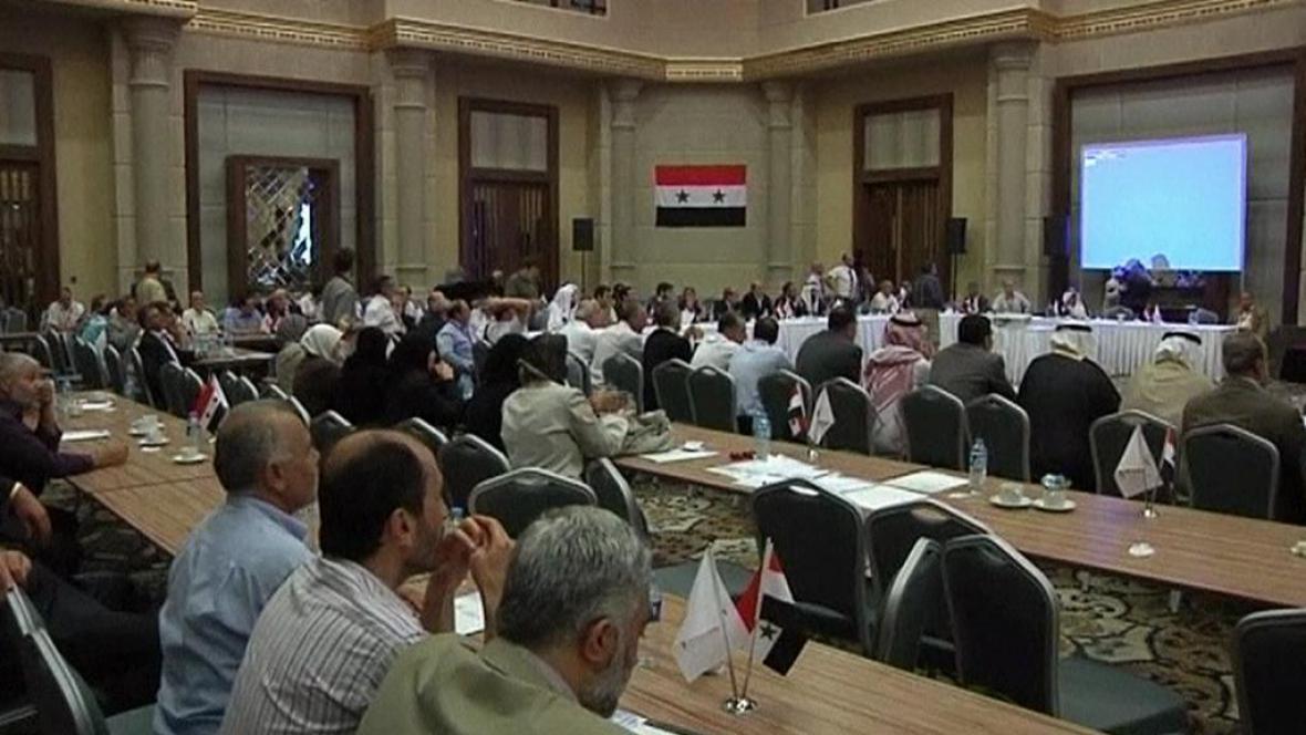 Konference syrské opozice v Istanbulu