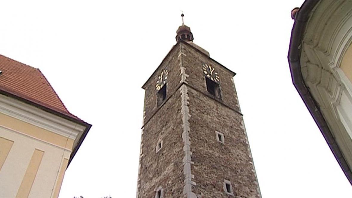 Kostelní věž v Přibyslavi