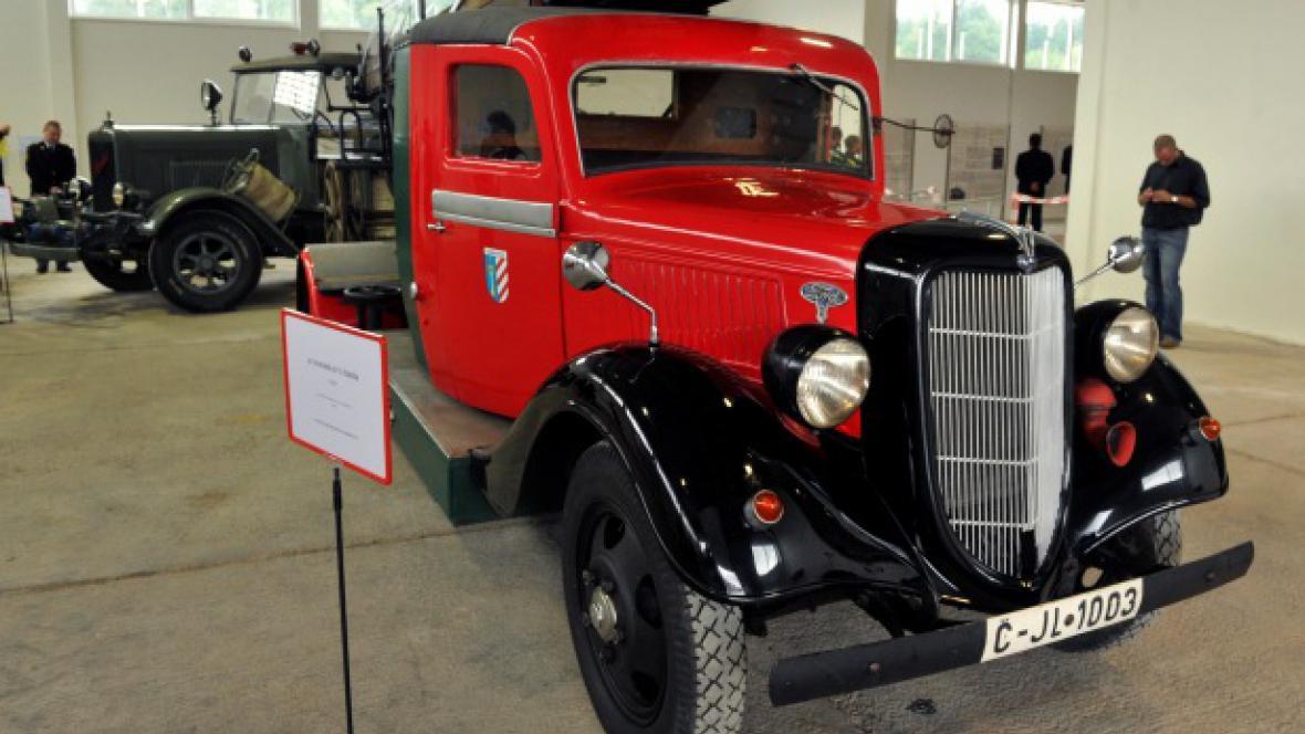 Expozice hasičského muzea ve Zbirohu