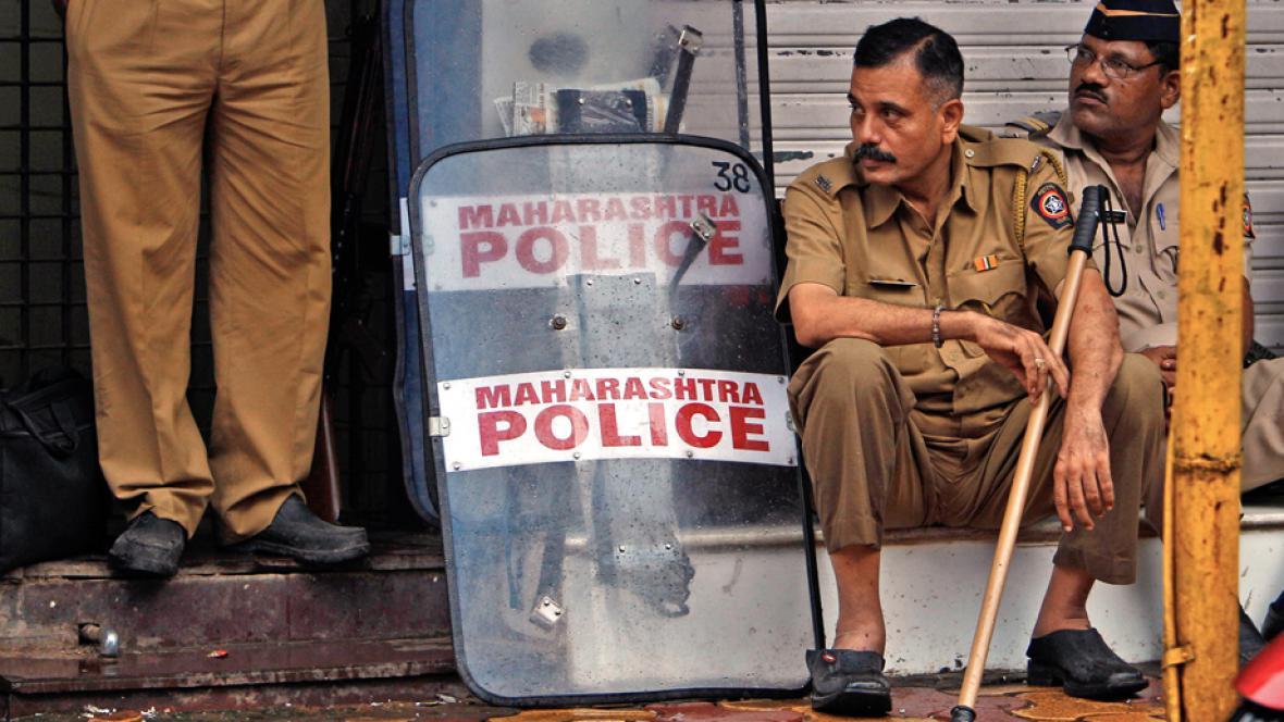 Policejní hlídky v Indii