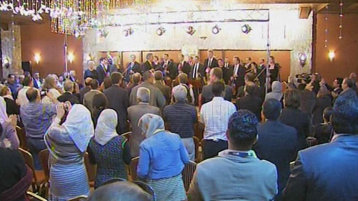 Koncert evropských hudebníků v Gaze