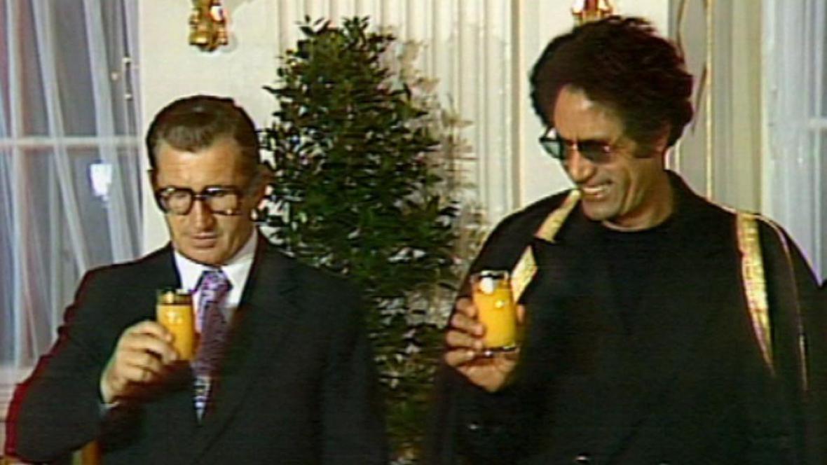 Lubomír Štrugal a Muammar Kaddáfí