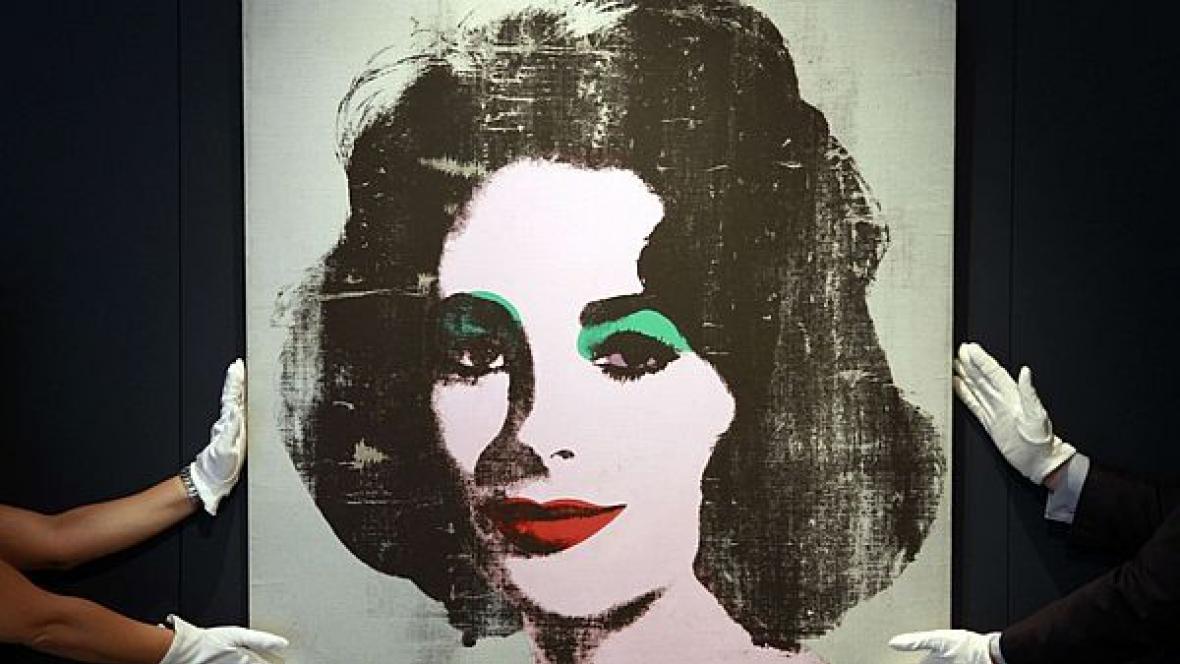 Warholův portrét Liz Taylorové