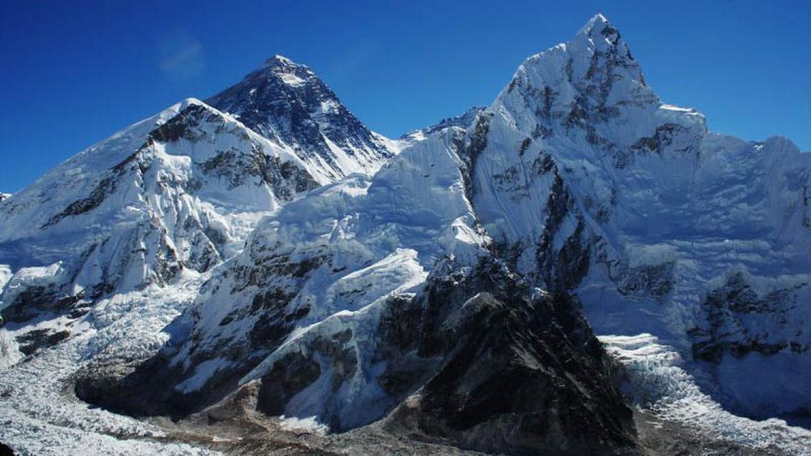 Vrchol Mount Everestu