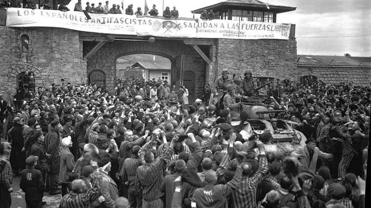 Osvobozování tábora Mauthausen