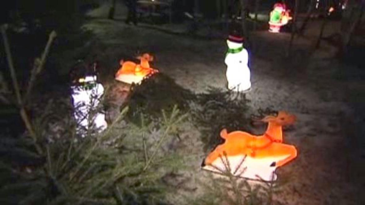 Vánoční dekorace zahrady